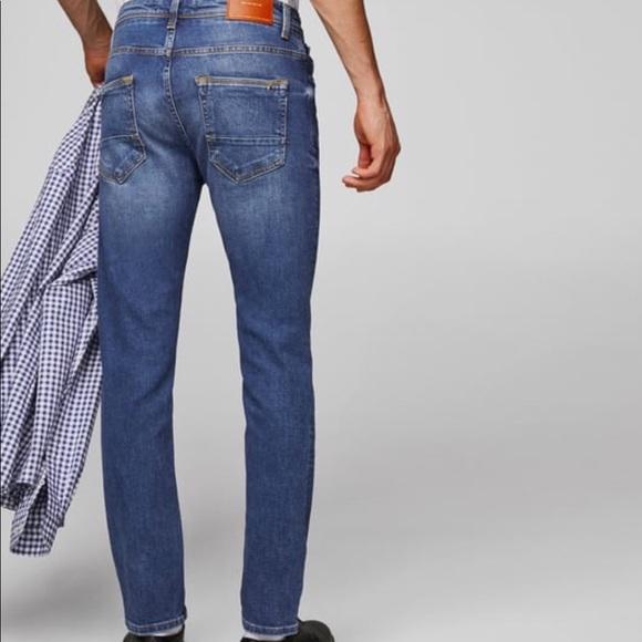648637d1 Zara Jeans | Man Premium Denim Slim Fit Midblue | Poshmark